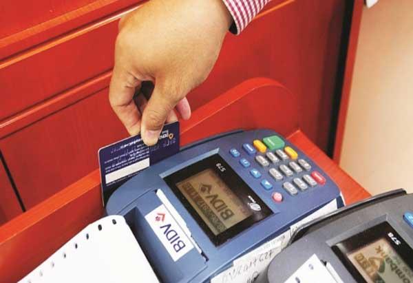 cà thẻ tín dụng bidv