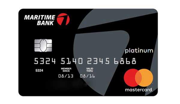 cà thẻ tín dụng maritime bank