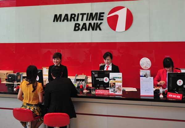 rút tiền thẻ tín dụng maritime- bank